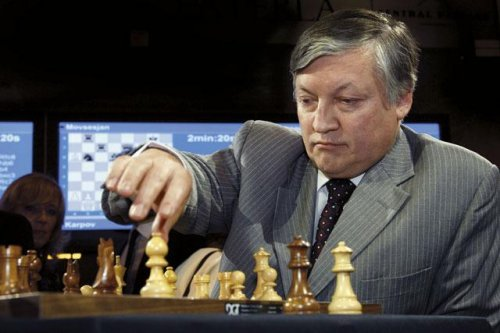 Anatoly Karpov the great chess player
