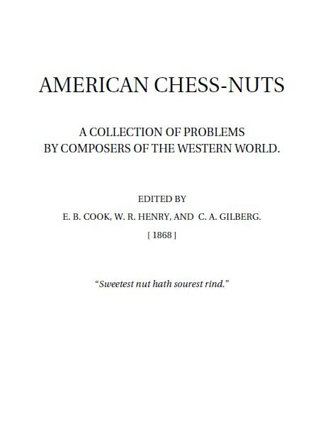 American Chess-Nuts - download book