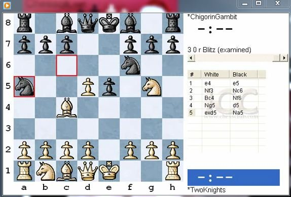 Two Knight's Defence. Chigorin's gambit - download video