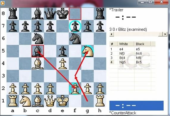Two Knight's Defence. Traxler's counter attack - download video