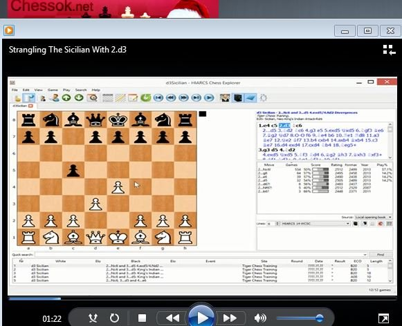Sicilian Defence (2.d3) - download video