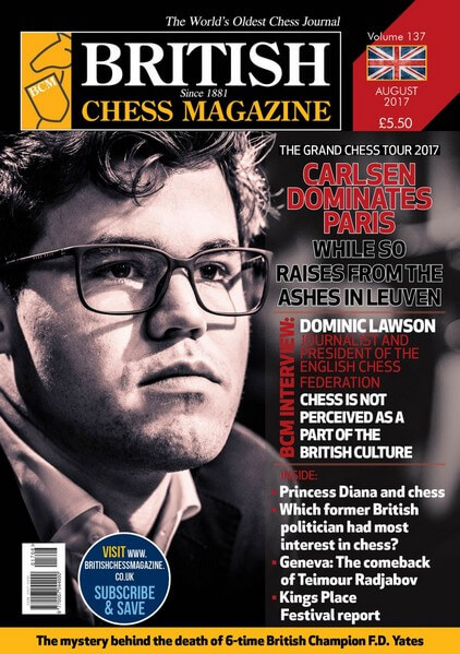 British Chess Magazine – August 2017