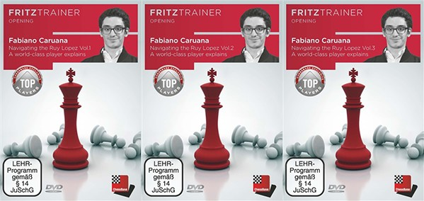 Fritz Trainer, Caruana Fabiano: Navigating the Ruy Lopez. Vol.1,2,3