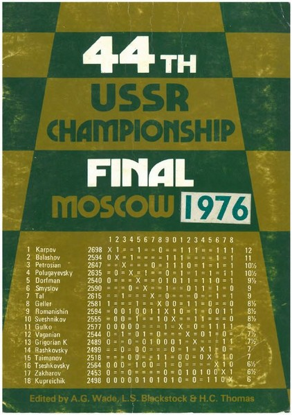 44th USSR Ch Final Moscow (1976)