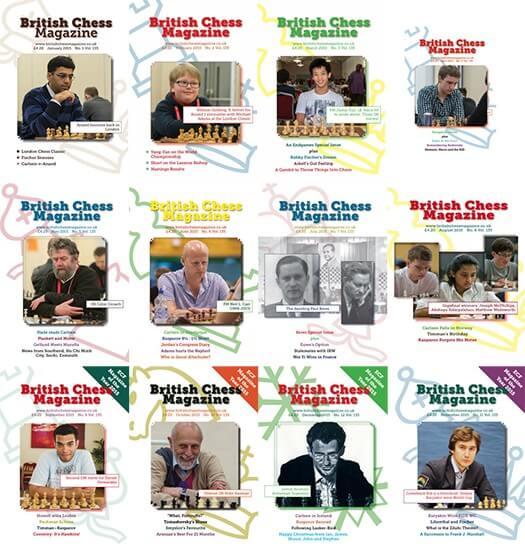 British Chess Magazine 2015 - ALL VOLUMES, COMPLETE SERIES