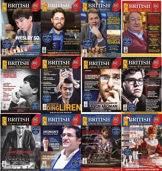 British Chess Magazine 2017 - ALL VOLUMES, COMPLETE SERIES